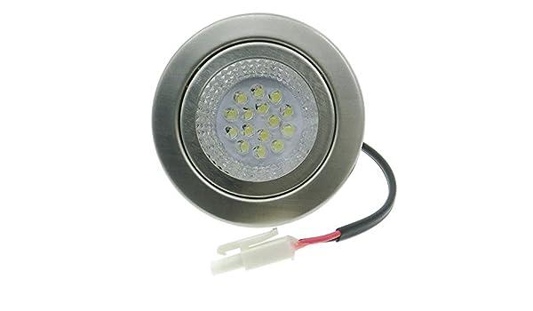 ELEDISON (2 unidades) 12 V CC 1,5 W LED cocina bombilla de luz de corte 55 mm agujero campanas extractor de humo cocina ventilador lámpara de luz 20 W bombilla halógena equivalente: Amazon.es: Iluminación