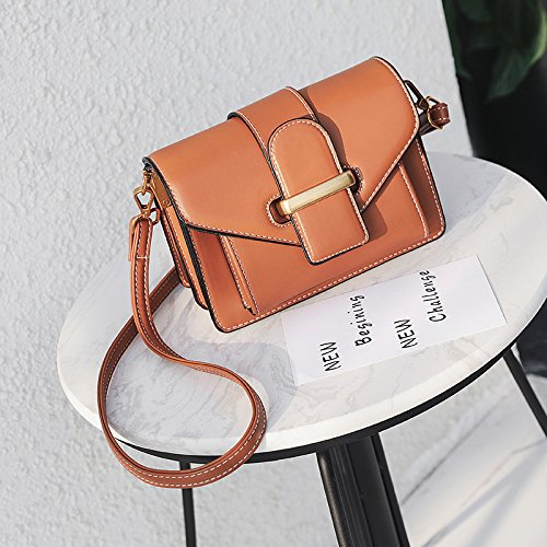 Brown casual fashion small Satchel GMYAN fallow bag style small Ladies single shoulder Cq5XP