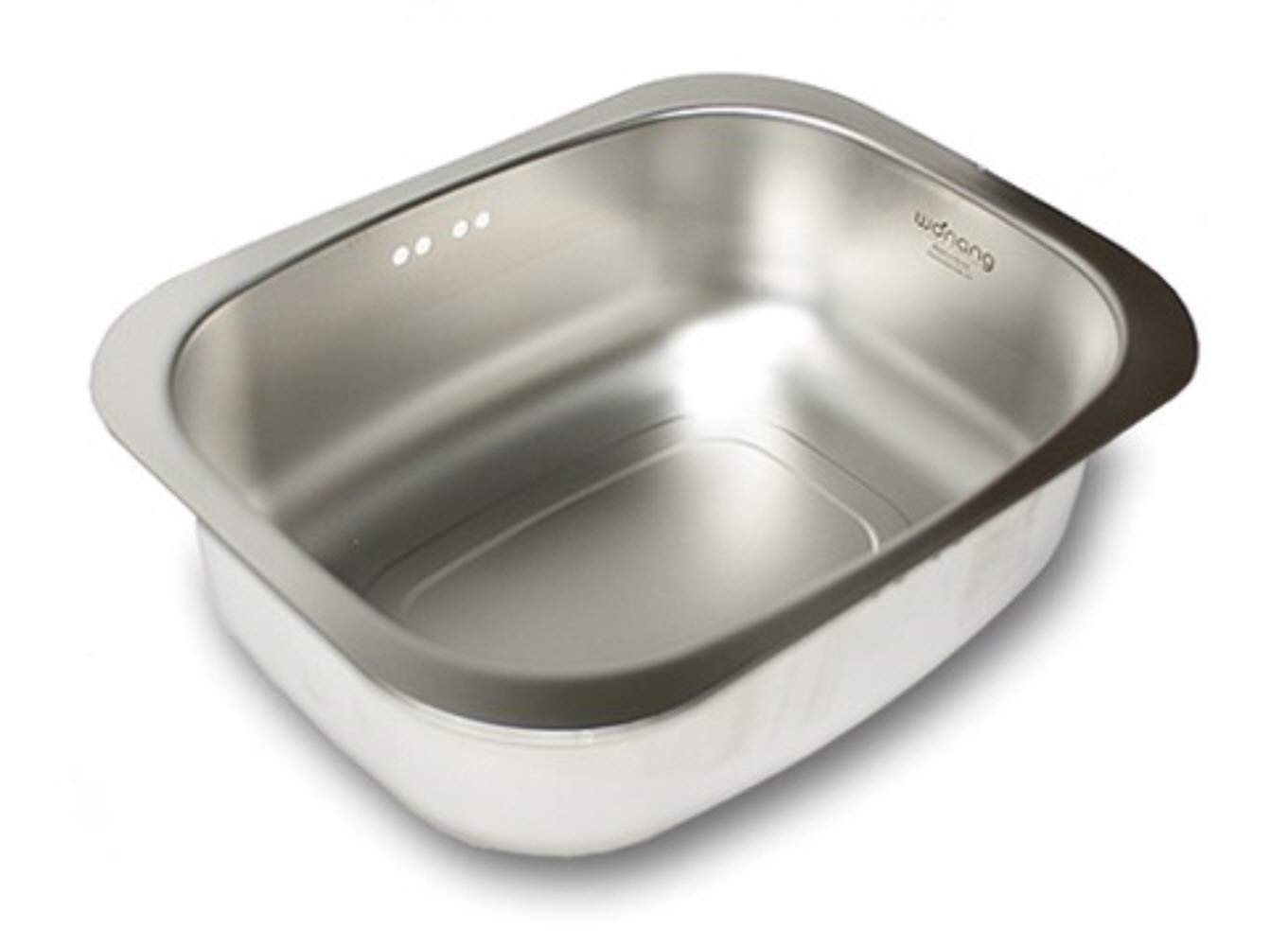 WANANG Stainless Steel Washing-up Bowl Multi-purpose Dish Tub for Sink Wash Basins Dishpan for Sink