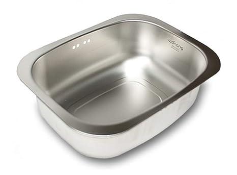 Amazon.com: WANANG - Cuenco de acero inoxidable para lavabo ...