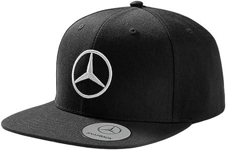 Mercedes Benz Gorra original con visera plana, color negro: Amazon ...