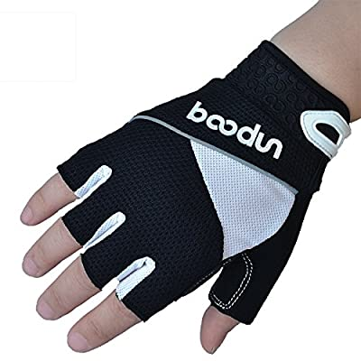 BOODUN Cycling Gloves Gel Pad Mountain Bicycle Gloves Half finger Anti-slip Shock-absorbing Breathable Riding Climbing for Man/Woman Gloves
