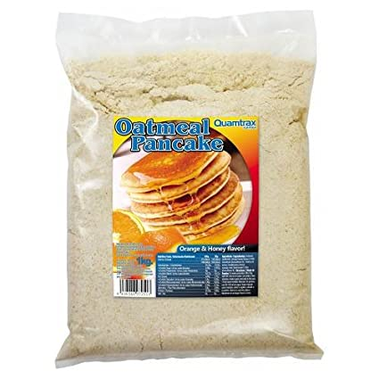 Quamtrax Oatmeal Pancake - Tortitas de Avena 1 Kg - Fresa-Cream