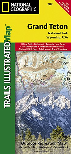 Grand Teton National Park  National Geographic Trails Illustrated Map