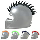 Helmet Mohawk: Flexible Rubber Sawblade Mohawk Accessory for Motorcycle Helmets, Snowboard Helmets, and other outdoor sports helmets. (1pack, Black)