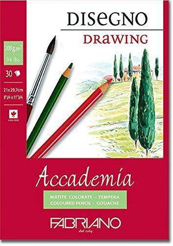 Fabriano Accademi Dess Drawing Paper A421x 29.7cm White 41202129