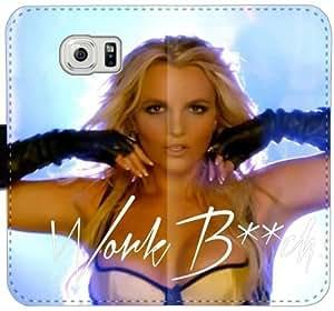 Caja del cuero de Britney trabajo M6U8Z Funda Samsung Galaxy S6 Edge Plus funda de plástico 5G22f6 teléfono celular Funda caso del tirón