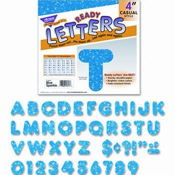 TREND® Ready Letters® LETTERS,SPARKLE 4'',BE (Pack of10) by Trend