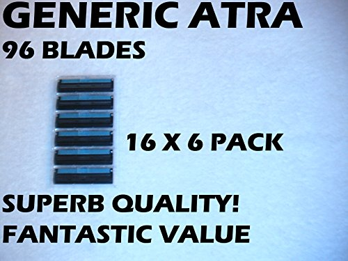 Price comparison product image Gillette Atra Generic Blades - 96 Blades (16 x 6 Bulk Pack)