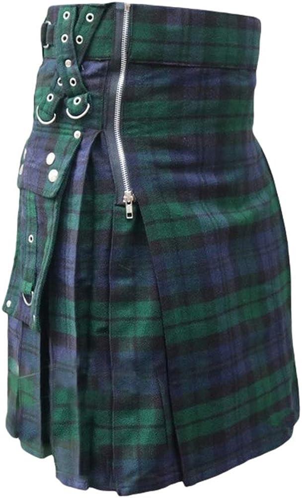 Yying Faldas Medievales Vintage Falda Escocesa Hombres Falda ...