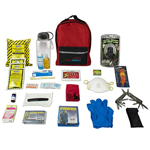 Ready America 70385 Deluxe Emergency Kit 4 Person Backpack (Preparedness Emergency Kit)