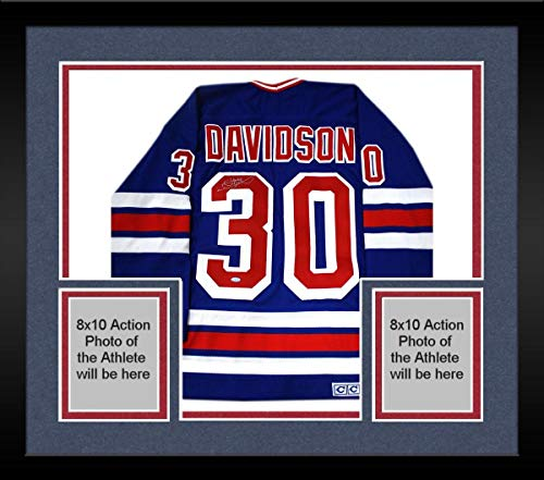 (Framed John Davidson Signed New York Rangers Throwback Jersey - Steiner Sports Certified - Autographed NHL Jerseys)