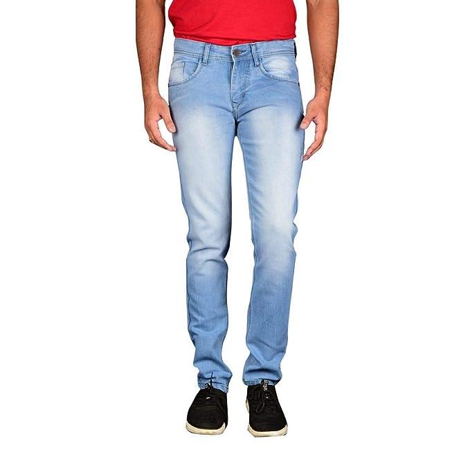 c490f5e4fa2 Waiverson Slim Fit Men s Light Blue Jeans  Amazon.in  Clothing   Accessories