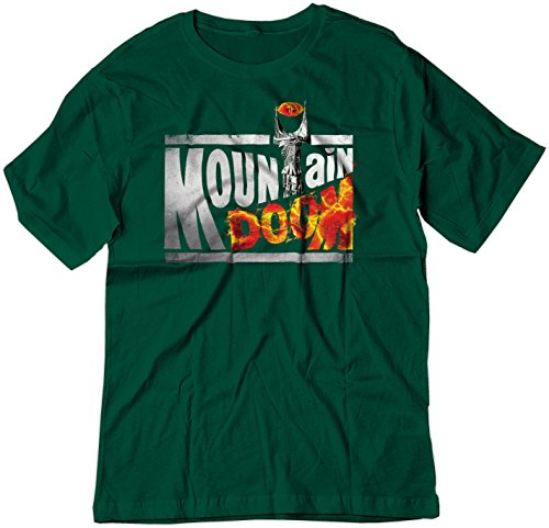 BSW Men's Mountain Doom Dew Eye of Sauron Drink Shirt 5XL Forest Green (Lord Of The Rings Eye Of Mordor)