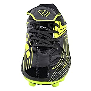 Vizari Youth/Jr Striker FG Soccer Cleats | Soccer Cleats Boys | Kids Soccer Cleats | Outoor Soccer Shoes | Black/Yellow 9