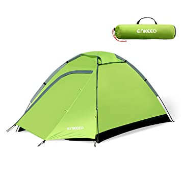 Enkeeo C&ing Tent 2 Person Compact Portable Folding Waterproof Backpacking with Carrying Bag Dome Shape  sc 1 st  Amazon UK & Enkeeo Camping Tent 2 Person Compact Portable Folding Waterproof ...