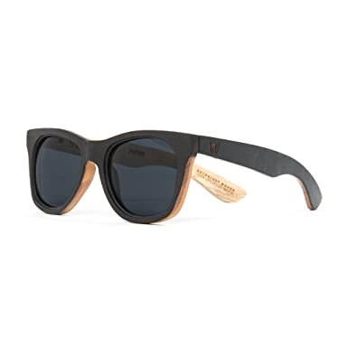 7a55b202a4 Amazon.com  Woodzee US Made Recycled Oak Wooden Sunglasses Reclaimed from  Hardwood Floors  Clothing