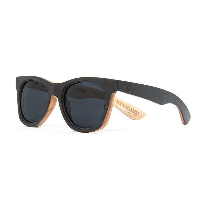 Amazon.com: Reciclado Roble para hombre anteojos de sol de ...