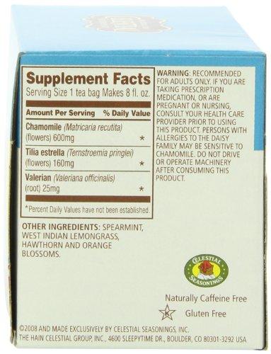 Ingredients in celestial seasonings sleepytime tea