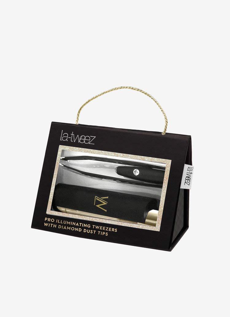 LaTweez Black Illuminating Tweezers w/Diamond Dust Tips by La-Tweez