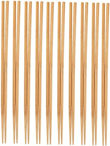 Cooking Chopsticks – 10-Pack Extra Long Cooking Chopsticks, For Cooking, Frying, Hot Pot, Noodles in Chinese and Japanese Style, Natural Bamboo, 16.5 Inches
