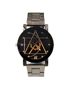 Fortan Acero inoxidable cuarzo reloj de pulsera análogo de los hombres