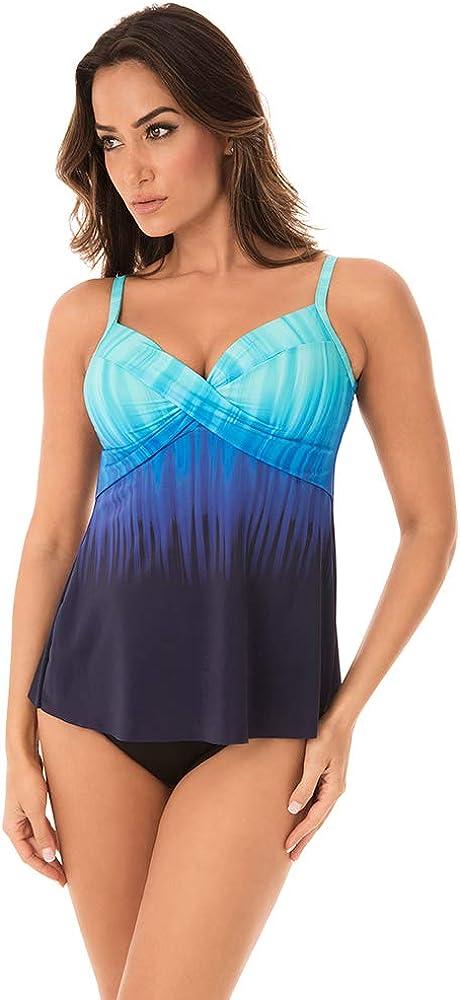 Miraclesuit Women's Swimwear Belle Trois Myrra Underwire Bra Tankini Bathing Suit Top