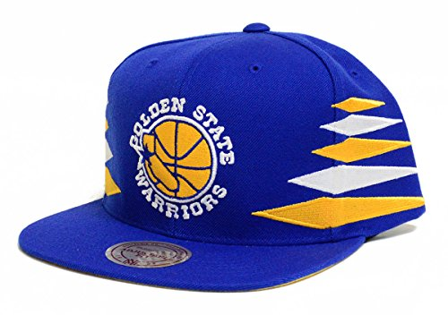 Golden State Warriors Mitchell & Ness Blue Diamond Snapback Hat