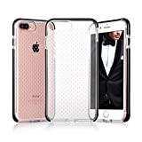 iPhone 7 Plus Case, iPhone 7 Plus Cover, FYY [Patent Shockproof] Ultra Slim Fit Hybrid Clear Bumper Case Soft Silicone Gel Rubber Shockproof Impact Resistance Cover for Apple iPhone 7 Plus Black