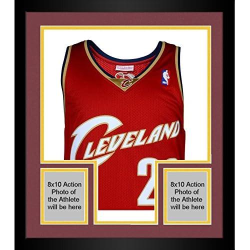 huge discount 991a2 3da4e Framed LeBron James Cleveland Cavaliers Autographed Red 2003 ...