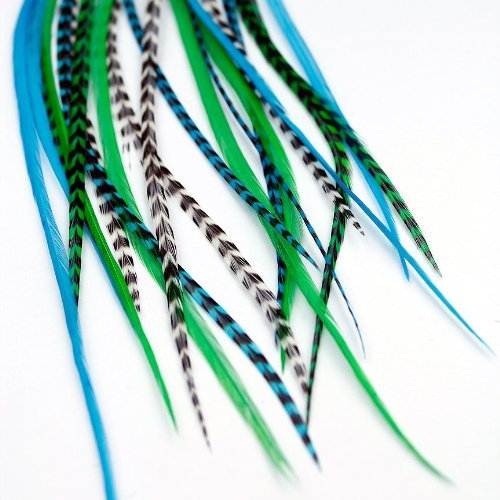 Real Feather Hair Extensions - Valley Girl (3 Feathers) by One Fine Day Feathers