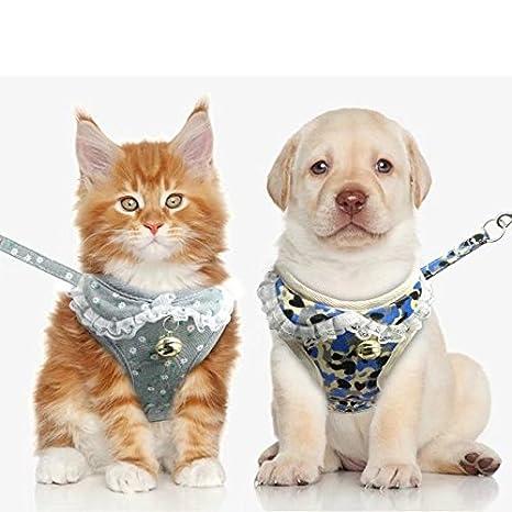 ajustable con correa estampado de fresas Berry XL talla S M para perros y gatos peque/ños-medianos L dise/ño de camuflaje//gris//rosa Arn/és de malla suave para mascotas