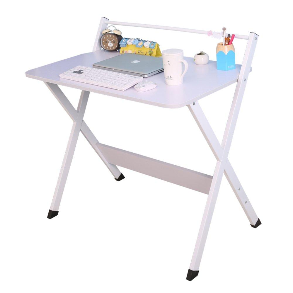 XIAOLIN シンプルなデスクトップコンピュータのデスクの家の使用オフィステーブルのシンプルなノートテーブルのテーブルのライティングデスクのダイニングテーブル、会議テーブルの2つの色 (色 : 白) B07F36B9M7白