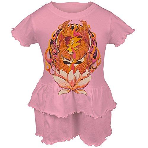 Grateful Dead - Phoenix Rising SYF Infant Romper Ruffle Dress 18 Months Pink