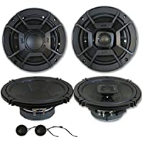 Polk Audio 6.5 Car Audio Marine ATV UTV 2-way Component system speakers with 6.5 2-way Coaxial Speakers