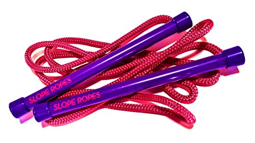 Slope Ropes - Kids Ski Trainer | The easiest way kids learn to ski. (Purple/Pink) (Ski Tip Connector)