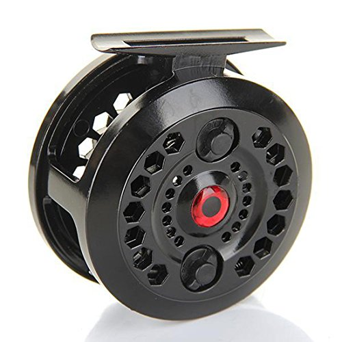joyliveCY CY-Buity Black New Durable Practical Enhanced Nylon Fly Fishing Reels Reel Freshwater Loop Right Left Handed