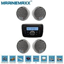 "Marine Stereo MP3 USB Bluetooth Radio Receiver +2Pcs 3"" Marine Boat Speakers New"