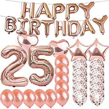 Amazon com: 25th Birthday Decorations Party supplies-25th