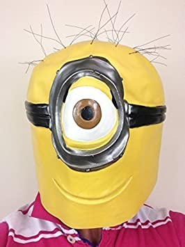 Adulto Minion Máscara Despreciable De Látex Minions Disfraz De ...
