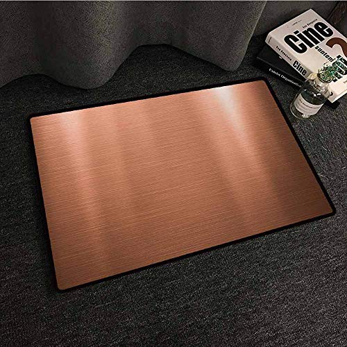 (DILITECK Interior Door mat Abstract Indusrial Plate Facade Illustration Tough Construction Element Modern Suitable for Outdoor and Indoor use W31 xL47 Pale Coral Chocolate)