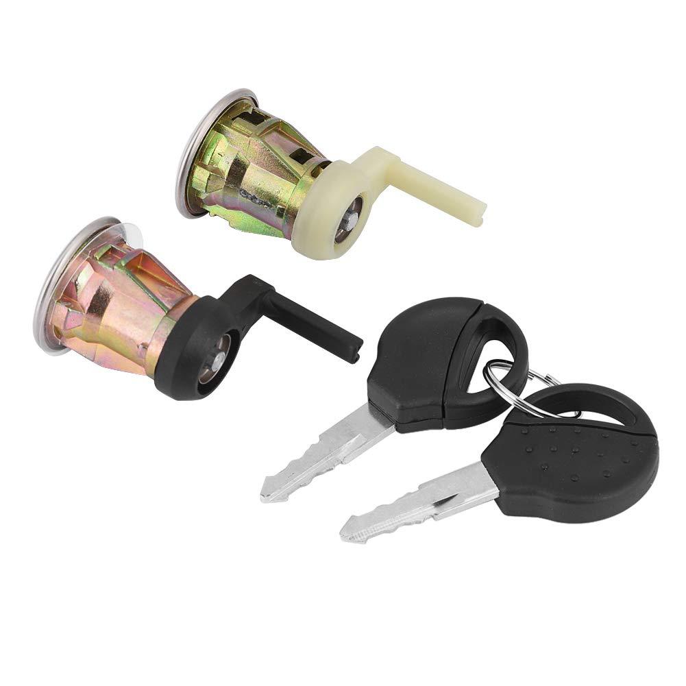 KIMISS Front Left /& Right Barrel Lock Door Lock Set with 2 Keys for Peugeot 206 1998-2009