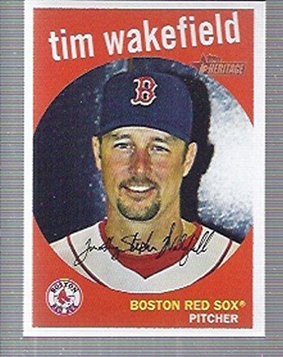 2008 Topps Heritage Baseball #343 Tim Wakefield Boston Red Sox
