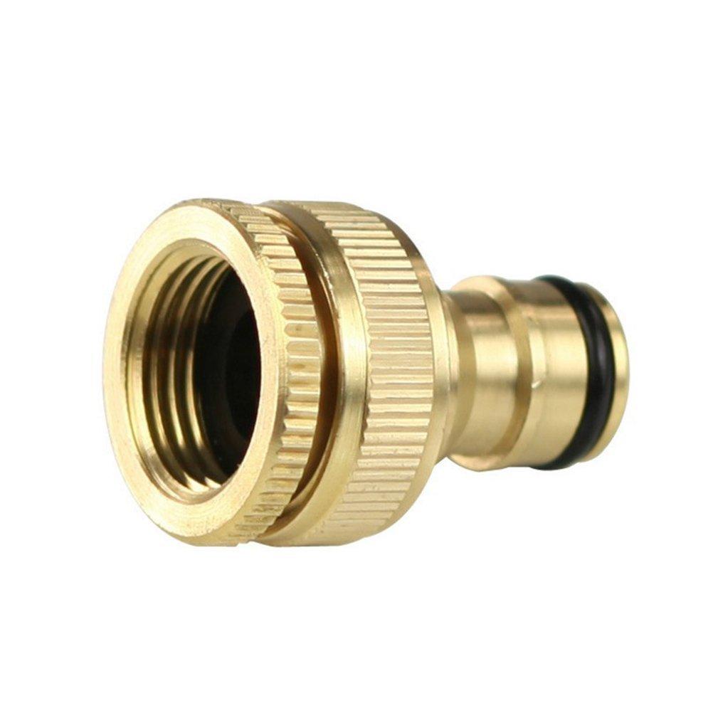 Verbindungsstück von WINOMO zum schnellen Verbinden von Schlauch und Wasserhahn, 1,3 cm auf 1,9 cm, Adapter aus Messing