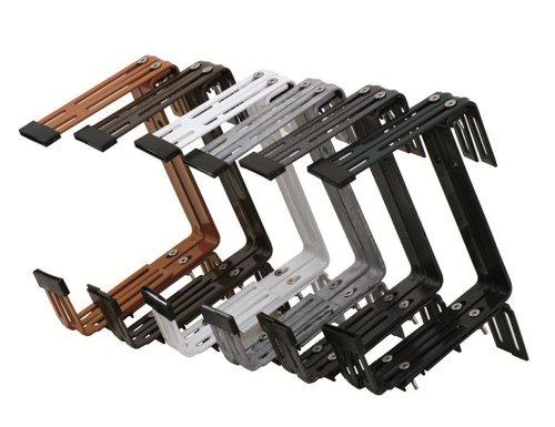 Siena Garden 897712 Blumenkastenhalter Premium 3-fach verstellbar vormontiert anthrazit 2er Pack