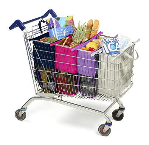 Express Checkout Trolley Bags Set Of 4 Reusable Grocery