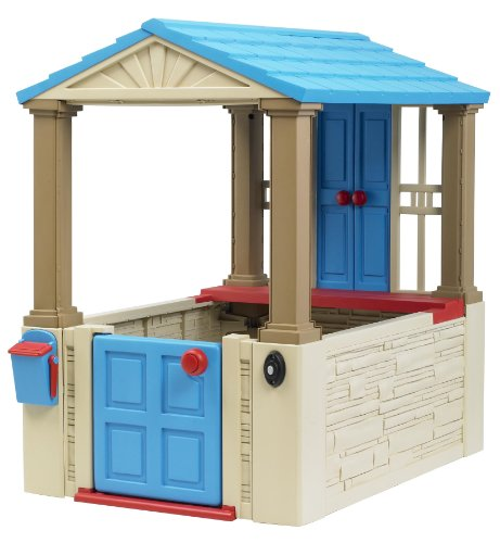 American Plastic Toys My First Interactive Playhouse for Kids, Blue/Gray ()