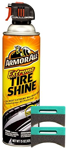 Extreme Bundle - Armor All Extreme Tire Shine Cleaner (15 oz.) Bundle Applicator Pads (3 Items)