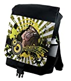 Lunarable Music Backpack, DJ Disco Headphones Dance, Durable All-Purpose Bag