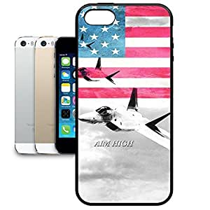 Bumper Phone Case For Apple iPhone 5/5S - Air Force USA USAF Designer Wrap-Around